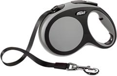 Поводок-рулетка Flexi New Comfort L (до 60 кг) лента 5 м черный/серый