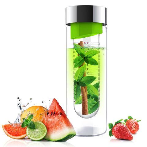 Бутылка Asobu Flavour it (0,6 литра), зеленая с серебристым