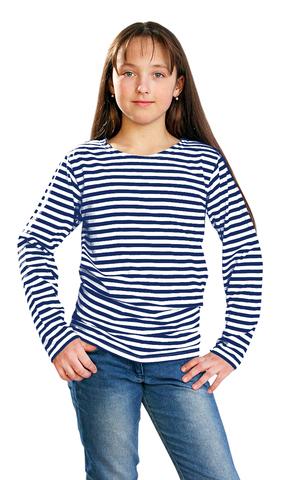 Тельняшка детская кулирка синяя полоса