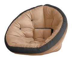 Кресло Farla Lounge Бежевое с серым