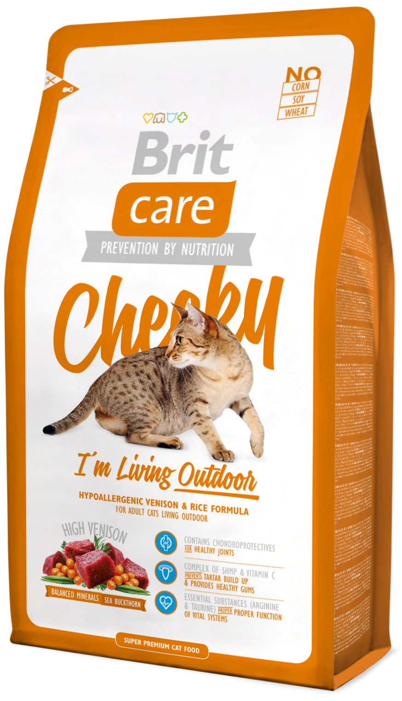 Brit Корм для кошек, Brit Care Cat Cheeky Outdoor, активных и уличного содержания аутдур.png