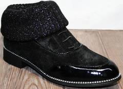 Женские туфли в мужском стиле Kluchini 5161 k255 Black