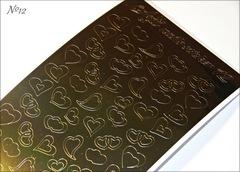 Металлизированные наклейки Arti nails Stiker цвет золото №12