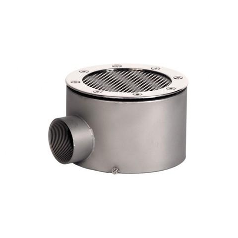 Донный слив круглый сетчатый диаметр 165х100 нержавеющая сталь AISI-304 внутреннее подключение 2
