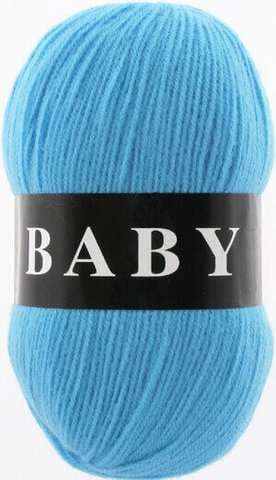 Пряжа Baby (Vita) 2876 Голубая бирюза фото