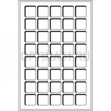 Флокированный лоток для монет, тип L, на 40 монет до 33 mm Ø, синий