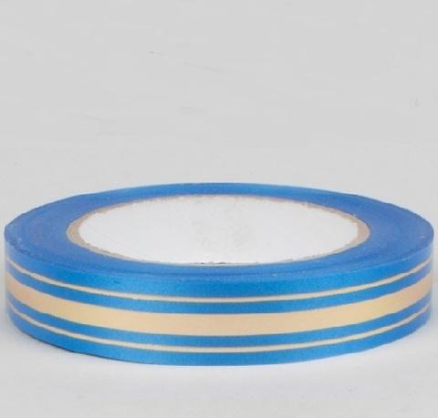 Лента золотая полоса Россия (размер: 2 см х 50 ярдов) Цвет: синий