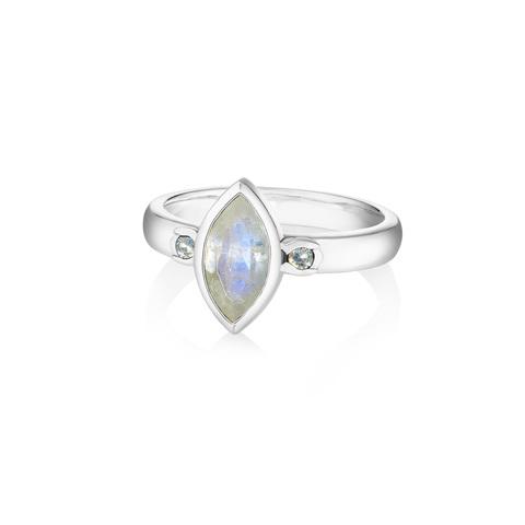 Кольцо PETALA - Лунный камень (Огранка)