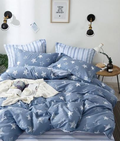 Постельное белье Аэлита бело-голубой