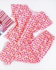 Пижама МАКАРОНСЫ, розовый