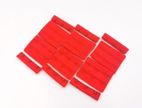 Застежка, ОПТ,  3х2, 5,5см, красный, (Арт: Z3-100), 50 шт