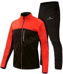 Детский утеплённый лыжный костюм Nordski Active Base Red-Black 2020