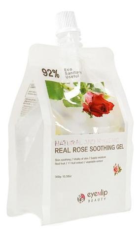 EYENLIP Гель для тела увлажняющий NATURAL AND HYGIENIC REAL ROSE SOOTHING GEL 300гр