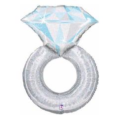 Б Фигура, Кольцо с бриллиантом, голография, 38
