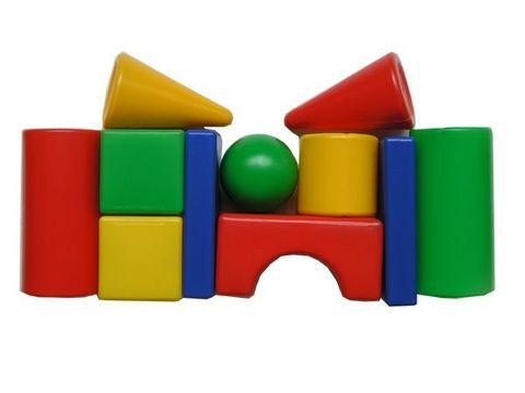 Состав набора: Кубик 8х8 см - 2 шт Большой цилиндр ⌀8х16 см - 2 шт Малый цилиндр ⌀8х8 см - 1 шт Конус ⌀8х13 см - 2 шт Прямоугольная призма 16х8х3 см - 1 шт Шар ⌀8 см - 1 шт Арка 16х8х8 см - 1 шт