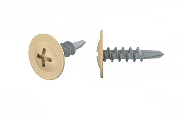 Саморез с прессшайбой со сверлом 4,2х16 (RAL1015(Св.Слоновая кость))