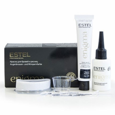 Estel Enigma Краска для бровей и ресниц 2*20 мл – Тон черный