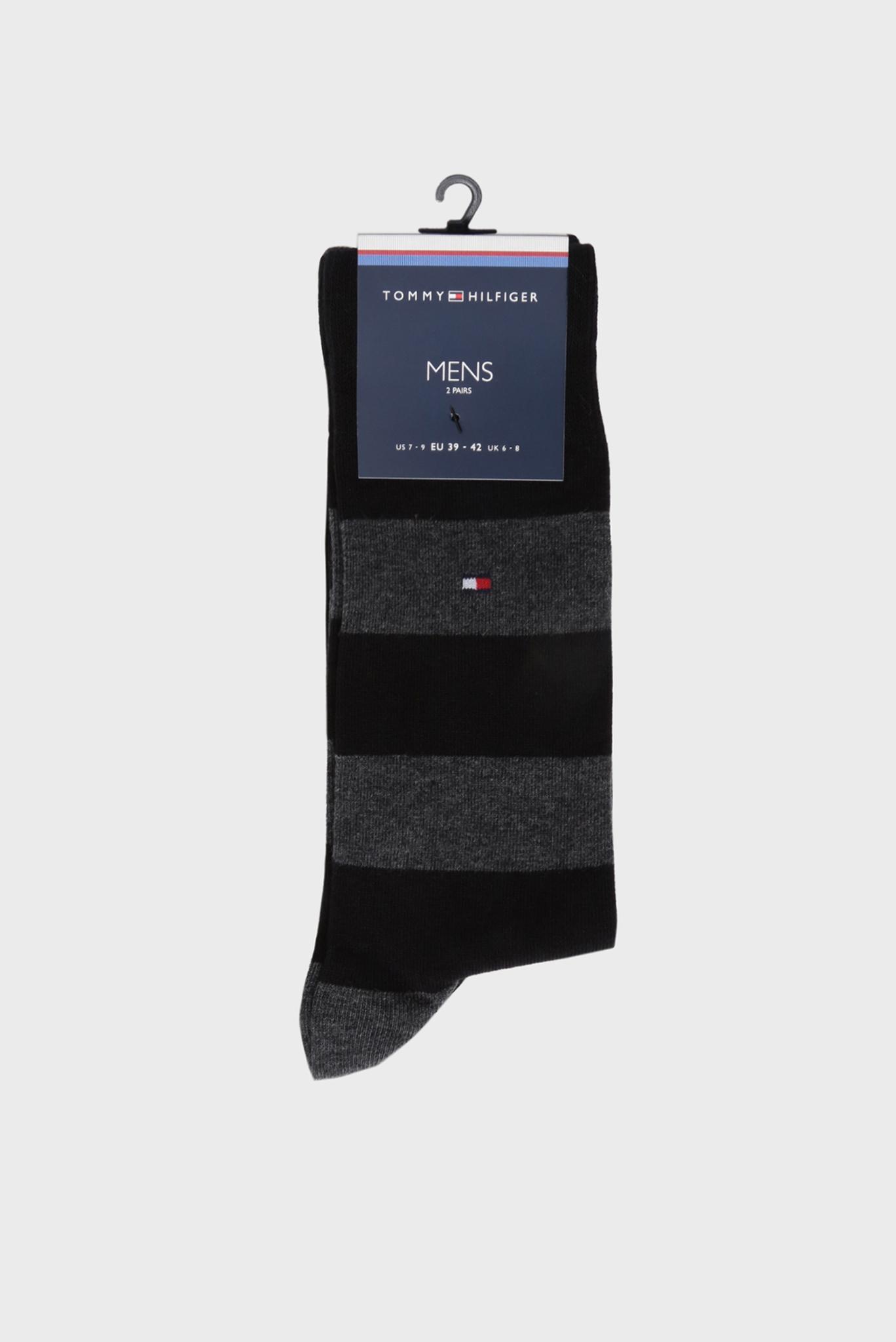 Мужские черные высокие носки (2 пары) Tommy Hilfiger
