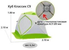 Палатка для зимней рыбалки ЛОТОС Куб Классик С9
