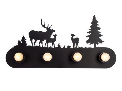 Настенный светильник Escada 590/4 E27*40W Black
