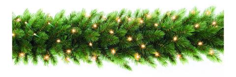 TRIUMPH TREE хвойная гирлянда  Лесная красавица зеленая (лампы) 270*33 см.