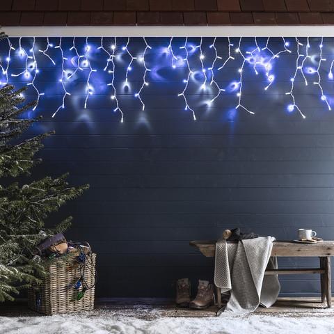 LED гирлянда бахрома занавес сталактиты