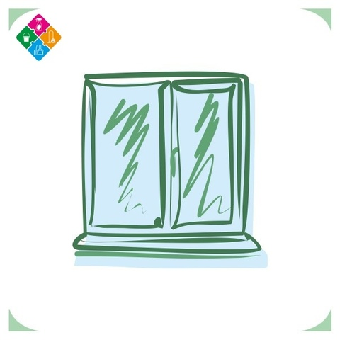 2-х створчатое окно