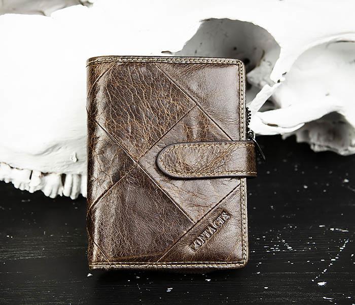 WL287-2 Мужское портмоне из кожи с монетницей
