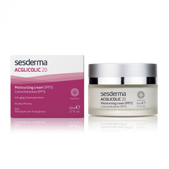 SESDERMA ACGLICOLIC 20 Moisturizing cream SPF 15 – Крем увлажняющий с гликолевой кислотой СЗФ 15, 50 мл