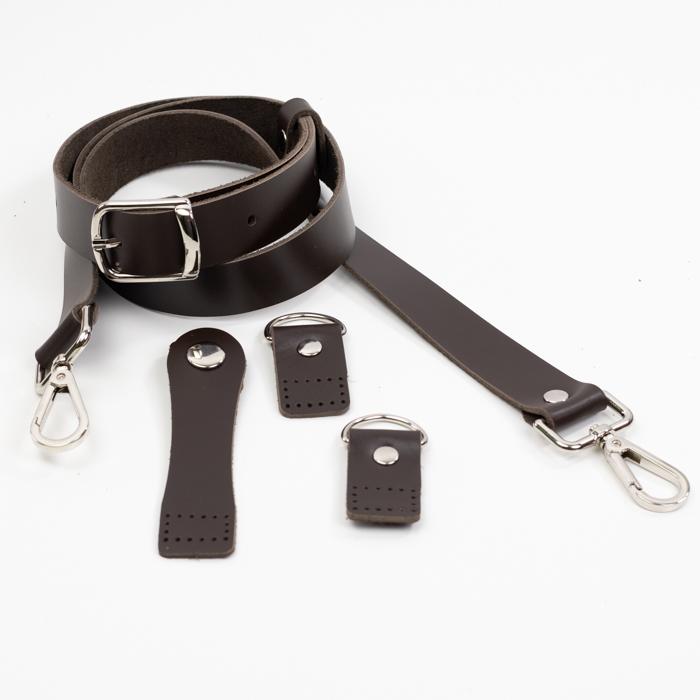 """Комплекты Комплект для сумки-ракушки """"Темно-коричневый"""" с ручкой через плечо IMG_9266.jpg"""