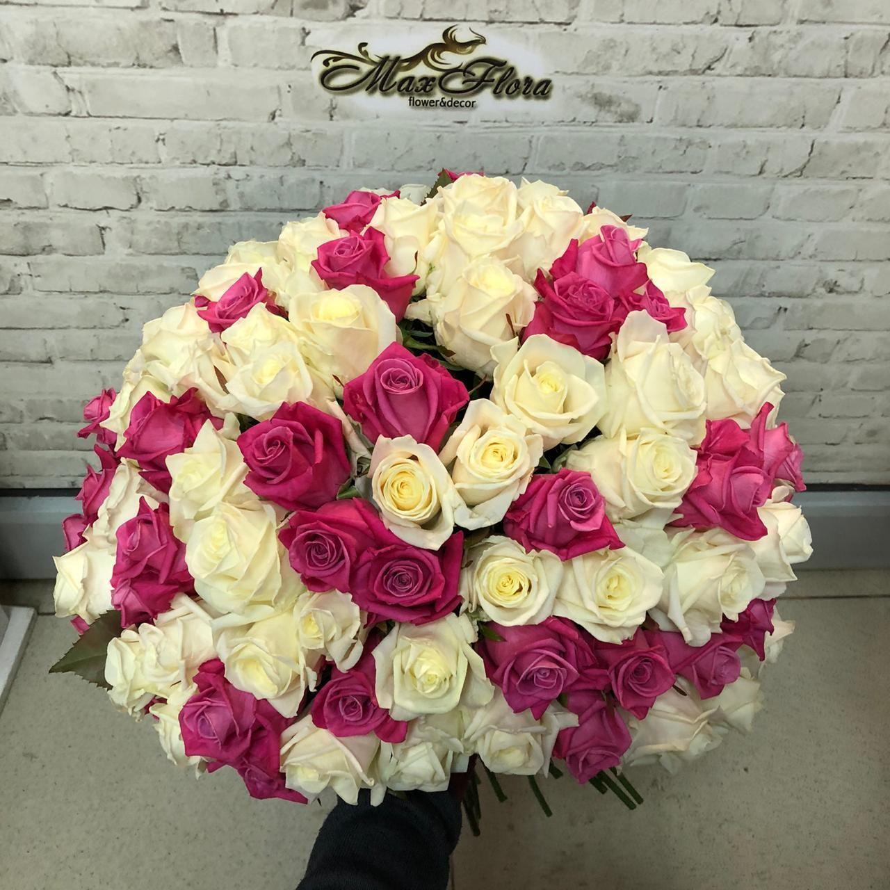 Букет 101 роза 50 см (Б-16)
