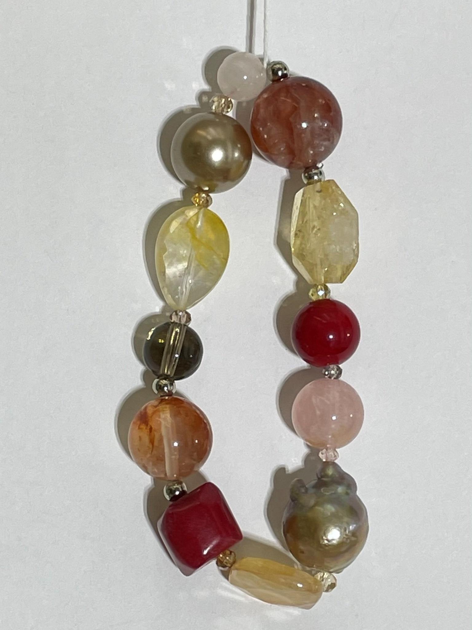 8008-цитрин (браслет из натуральных камней)