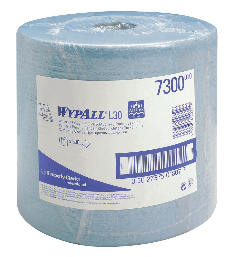 Kimberly-Clark WYPALL L30 Extra Plus (1*500л) - Протирочные салфетки