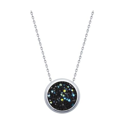 94070120 - Колье из серебра с черными кристаллами SWAROVSKI