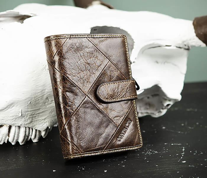 WL287-2 Мужское портмоне из кожи с монетницей фото 02