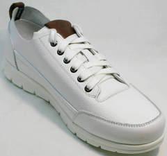Туфли в виде кроссовок мужские белые Faber 193909-3 White.