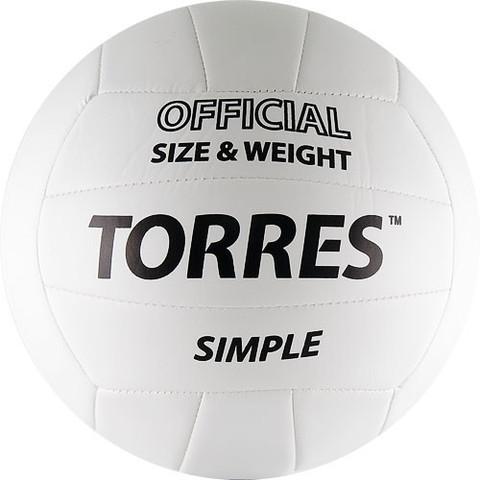 Мяч в/б TORRES Simple V30105, р.5, синт.кожа