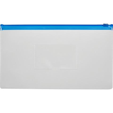 Папка-конверт Attache на молнии для билетов прозрачная 0.16 мм (265x148 мм)
