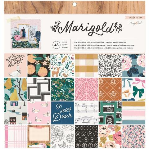 Набор односторонней бумаги 30х30см- Maggie Holmes Marigold by Crate Paper - Single-Sided Paper Pad  -50шт