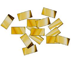 Конфетти металлизированное 10*20 мм золото, 250 гр, 1 уп.