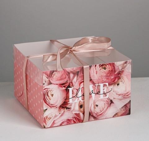 Коробка для 4 капкейков