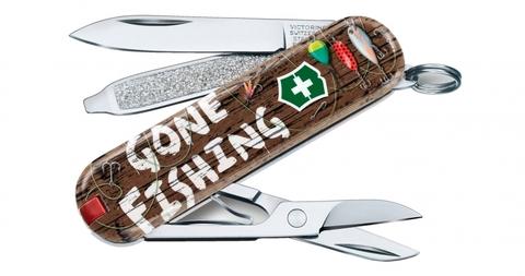 Нож-брелок Victorinox 0.6223.L2005 Classic Gone Fishing Limited Edition 2020