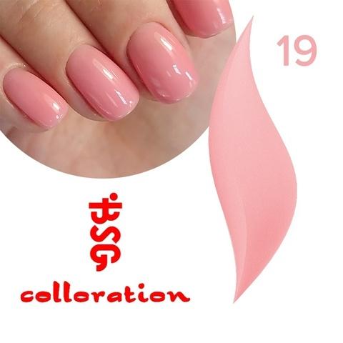 BSG Colloration, №19  Розовый с мельчайшим шимером купить за 650руб