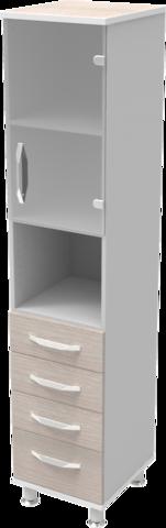 Шкаф медицинский общего назначения 1.02 тип 2 АйВуд Medical Office - фото
