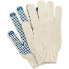 Перчатки рабочие трикотажные с ПВХ Точка 4 нити 10 класс 42 г (10 пар в упаковке)