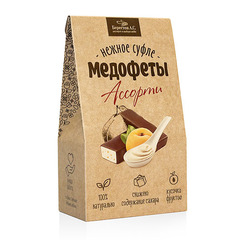 """Суфле Медофеты """"Берестов"""" Ассорти с йогуртом, черносливом, курагой 150г"""