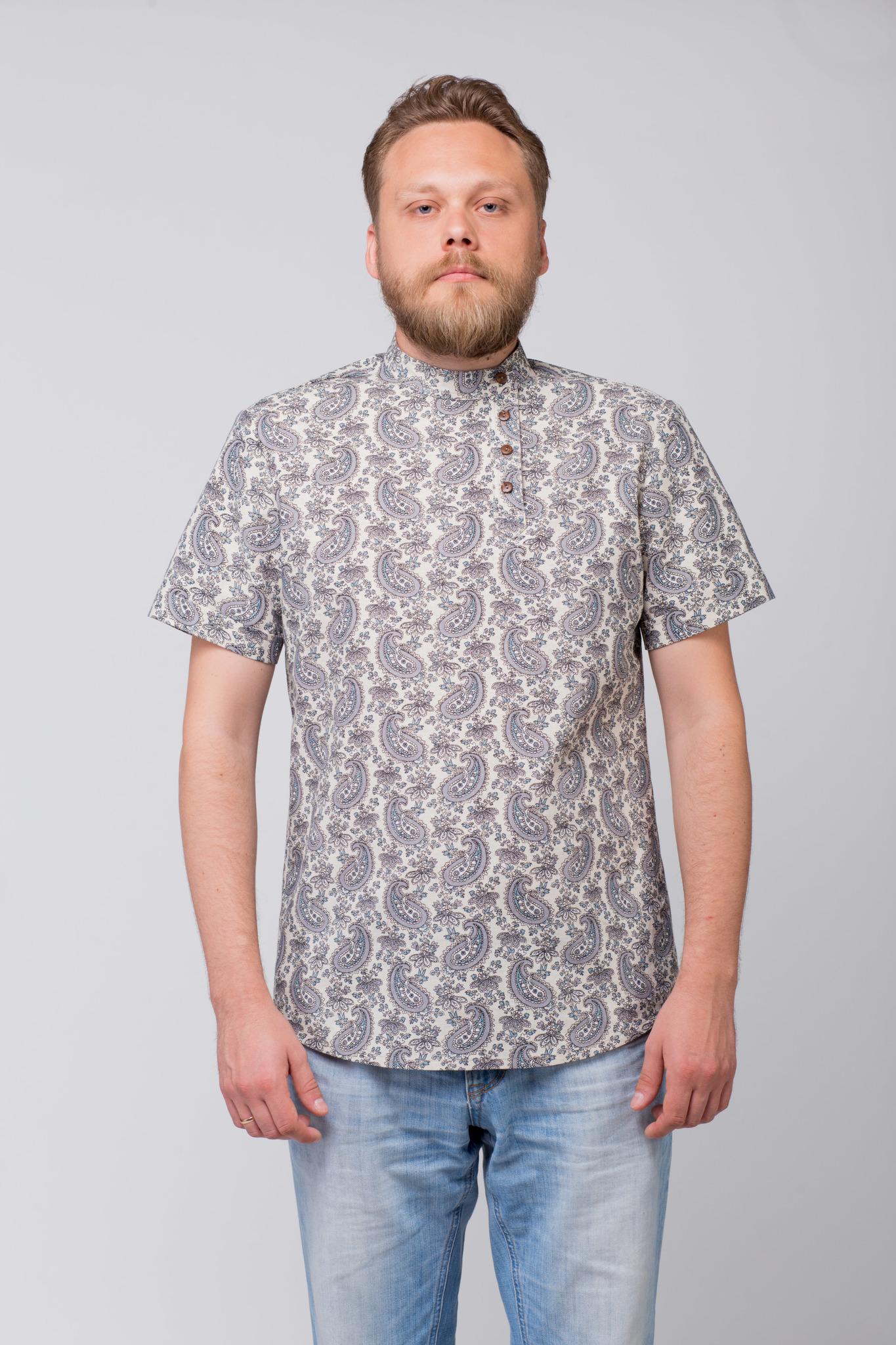 Рубашка льняная Огурцы