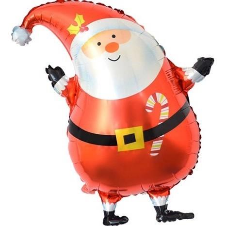 Фольгированный шар, Санта в колпачке, 66см.