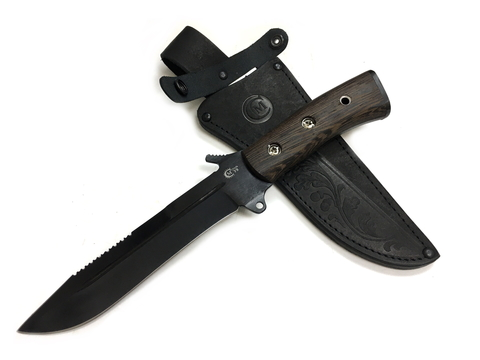 Нож для выживания СМЕРЧ сталь У8, венге
