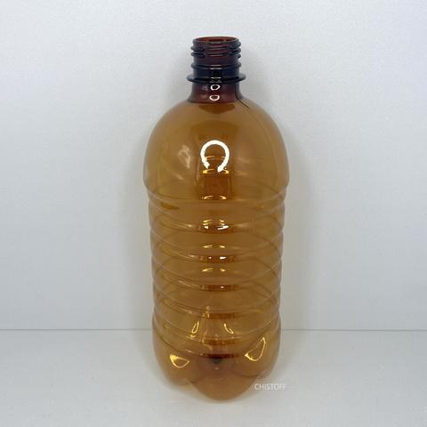Бутылка 1 л с узким горлом ø 28 мм коричневая